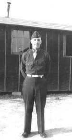 Lt Canfield, G/253d Inf at Cp Van Dorn MS 1944