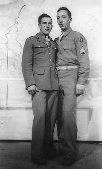 Seiler and friend A/253d Inf Cp Van Dorn, MS 1943