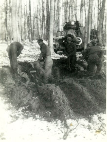 Hq 1st Bn 253d Inf-St Michel Woods France Dec 44