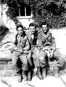 Soldiers from Hq Co 1st Bn 253d Inf, Wertheim, Germany Jun 45