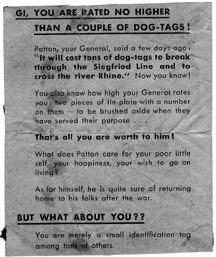 German Propaganda Leaflet