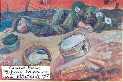 Painting by Sgt Jugan Med Det 253d Inf-1945