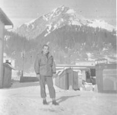 S/Sgt James Karametsos E/253d in Switzerland-1945