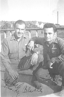 S/Sgt Karambetsos and s/Sgt Sanchez E/253d Inf Germany 1945
