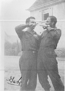 S/Sgt Sanchez and S/Sgt Karambetsos E/253d Inf Germany 1945