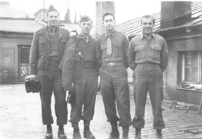 S/Sgt Karambetsos and buddies E/253d Inf Germany 1945