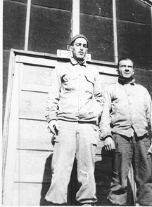 S/Sgt Karambetsos with buddies E/253d Inf Cp Van Dorn Ms-1944