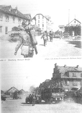 740th Tank Bn and 63d Infantry troops enter Homburg