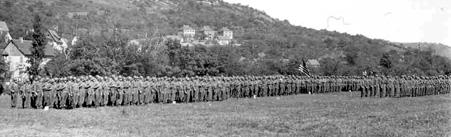 63d Div Regimental Parade Kunzelsau, Germany 5 Jun 45