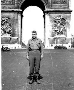 Unidentified member 63d Band in Paris France Aug 45