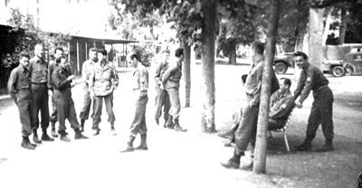 Rehearsal break, 63d Band, Bad Mergentheim, Germany 1945