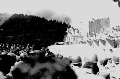 Jack Benny Show Jul 45, Bad Mergentheim, Germany Jul 1945