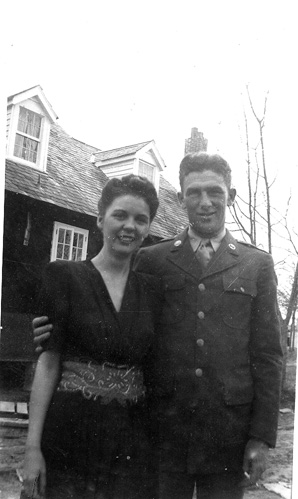 Sgt Ahern A/862 FA and Wife, Centreville, MS 1943