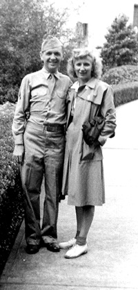 Soper and wife in Baton Rouge, 1943