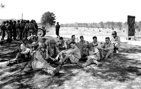 63d Band on Field Exercise, Camp Van Dorn, MS 1944