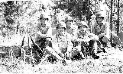 63d Band on bivouac, Cp Van Dorn, MS 1944