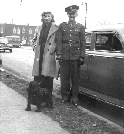 Soper 63d Band and wife in Chicago 1944