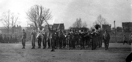 63d Infantry Division Band in Sarreguemines France 1945