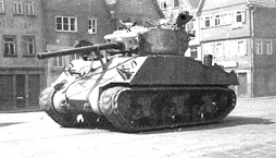 US Tank in Sarreguemines France 1945