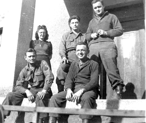 63d Band members, Sarreguemines France, 1945