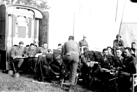 63d Band plays at Bad Mergentheim, Germany 1 Jun 45