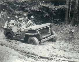 Hq Co 254th Inf at driver's training Cp Van Dorn MS 1944