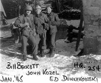 Hq 254th Infantry soldiers Jan 45 France