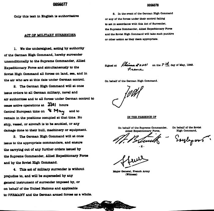 German Surrender document