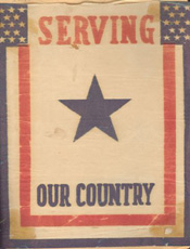 Window banner for folks at home WWII