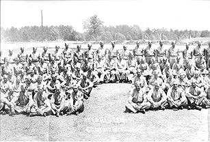 1st Company, Replacement Training Group, Cp Van Dorn 1944(center)