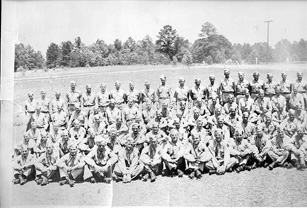 1st Company Replacement Training Group Cp Van Dorn MS 1944(left)
