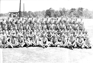 1st Company Replacement Training Group Cp Van Dorn, MS 1944(right)