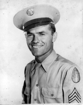 Unidentified Sgt I/255th Inf Cp Van Dorn MS 1944