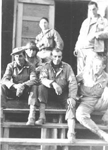 S/Sgt Karambetsos and buddies Cp Van Dorn Ms 1944