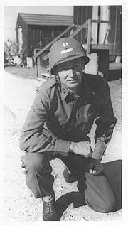 Capt Little A Co 253d Inf at Cp Van Dorn 1944