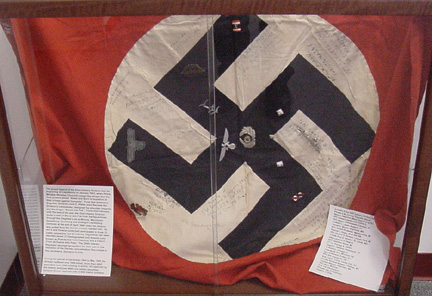 Nazi Flag signed by members of L/255th Infantry