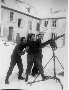 A&P Plat, Hq 1st Bn 253d Inf Neunkirsch les Sarreguemines France Jan 45