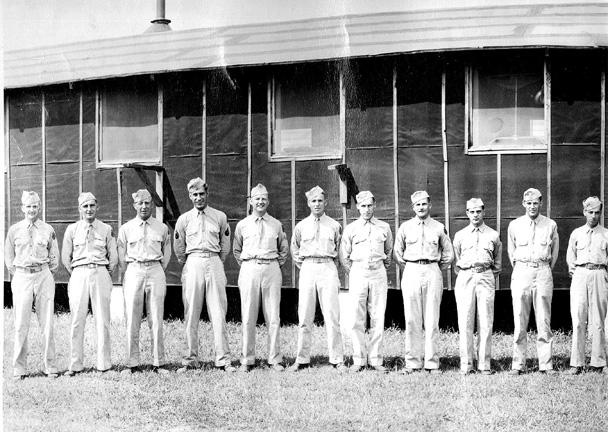 Amb Plat, A Co 363d Med Bn Camp Van Dorn, MS