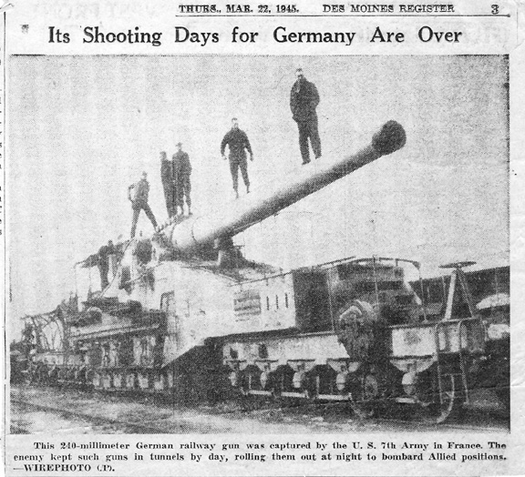 Newspaper item- 1945