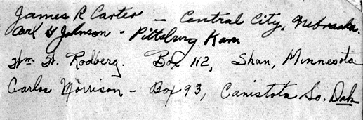 Signature page Pvt Porter M 255th Inf Regt
