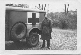 Capt Blanchard with Ambulance