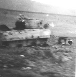 Destroyed American Tank