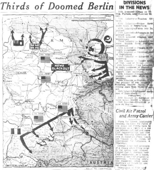 News Article- Last days of WWII in Europe