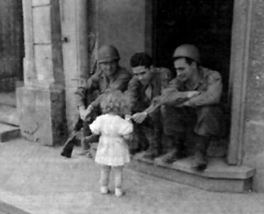 63d soldiers in Bad Mergentheim,Germany 1945