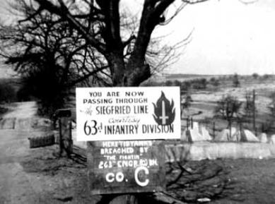 Siegfried Line entrance, Mar 1945
