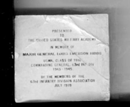 Copy of plaque appearing with West Point Memorial